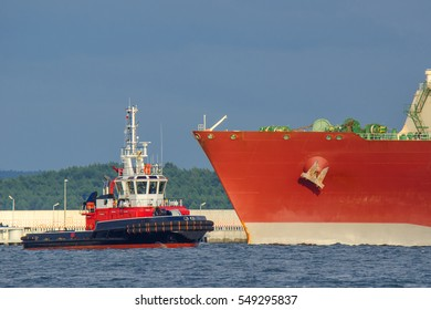 FIREBOAT AND GAS CARRIER