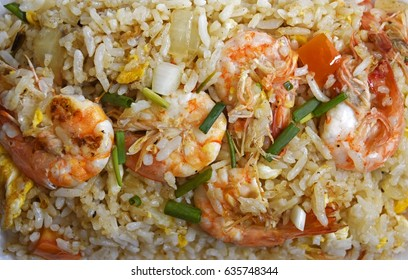 Fired Rice Prawn Delicious Food Of Thailand