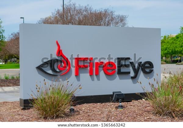 Fireeye Logo Displayed Near Cybersecurity Company Stock