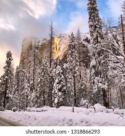 Firefall at Yosemite National Park
