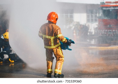 Firefighter fighting, Firefighters training