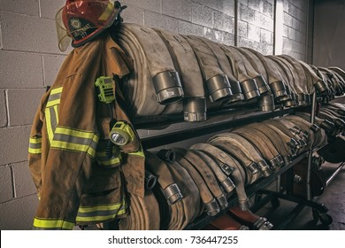 Firefighter protection gear and hoses