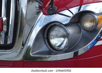 firefighter truck light front detail red vehicle