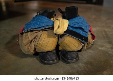 Firefighter turnout gear.