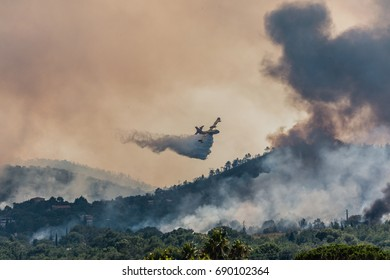 Firefighters, Canadair, embrasement,