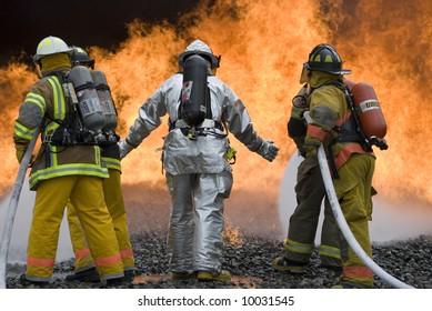 firefighters fight fire
