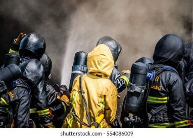 Firefighters Training ,Firefighters training exercise, fireman