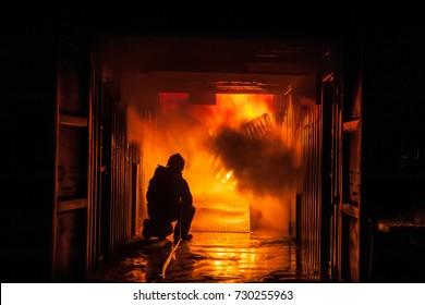 Firefighting.