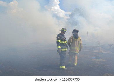 Firefighting heroes risk all