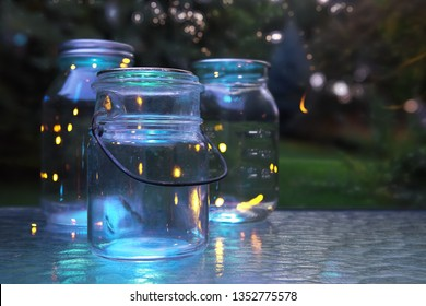 Fireflies in jars