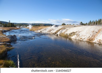 Firehole river in the Yellowstone national park