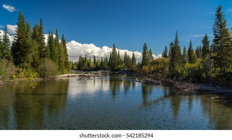 Firehole River in Yellowstone National Park in Morning / Firehole River Morning / Firehole River in Yellowstone National Park in Morning
