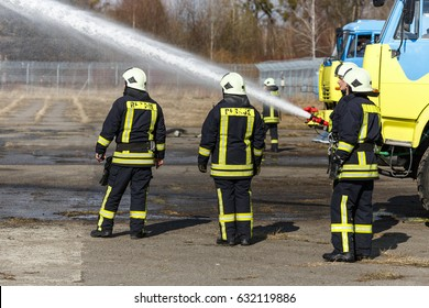 fireman drills, water spill combustion zone