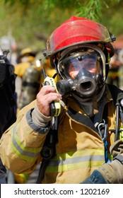 Fireman on the radio