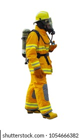 fireman on white background (whit clipping path)