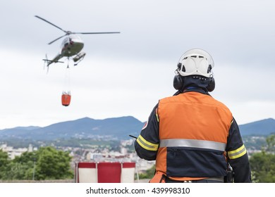 Firemans' helicopter