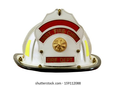 fireman's helmet isolated over a white background with a clipping path at original size