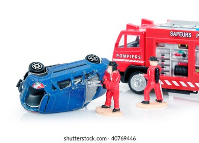 Firemen at car crash