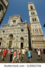 FIRENZA, Italy - JUNE, 22, 2017: , Duomo Santa Maria del fiore is main cathedrale in Florence (Firenza), famous landmark on June 22, 2017.