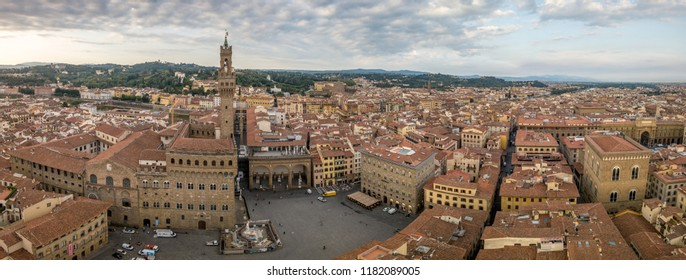Firenze (Florance) panoramic aerial view of the Palazzo Vecchio