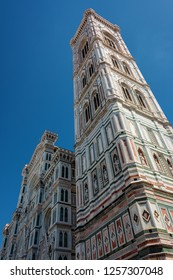 FIRENZE/ ITALY AUG 2017 - Amazing Cathedral of Santa Maria del Fiore (Il Duomo di Firenze), Florence, Italy. The basilica is one of Italy's largest churches, UNESCO World Heritage Site