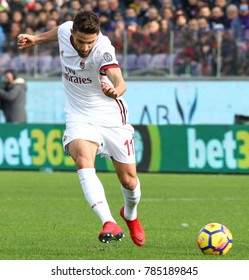 FIRENZE, ITALY - DECEMBER 30,2017: Fabio Borini during football match serie A League 2017/2018 between ACF Fiorentina vs AC Milan at the Franchi Stadium on December 30, 2017 in Florence.