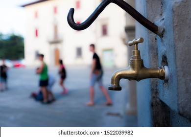 Firenze, Italy - June 17 2019: Availability of water will be a problem in the future because of climate changes.