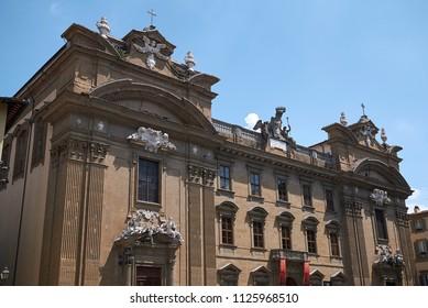 Firenze, Italy - June 21, 2018 : View of Fondazione Franco Zeffirelli (Complesso di San Firenze)