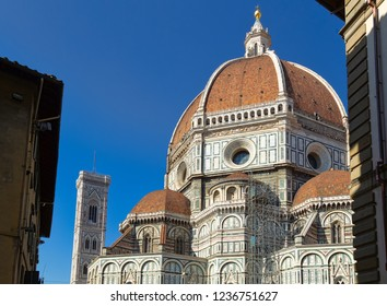 Firenze, Italy - October 30, 2014: Facade Florence Cathedral di Santa Maria del Fiore (Cathedral of Saint Mary of the Flower) in Firenze Florence, Tuscany, Italy