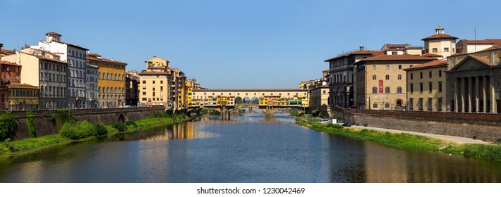Firenze/Italy - August 5th 2013 - Lovely Ponte Vecchio Firenze Panorama with Huge Resolution