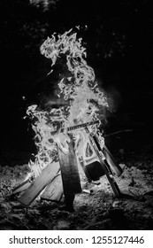 Firepit in Black and White