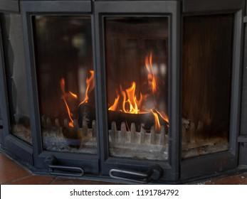 Fireplace. Heat with Wood. Burning.