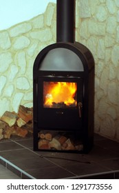 Fireplace oven wood stove for cold winter days
