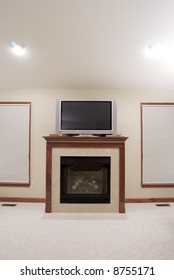 Fireplace & Plasma TV