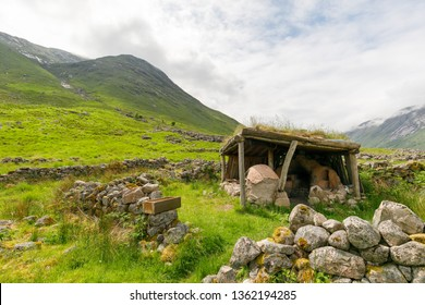 fireplace in scotish highlands