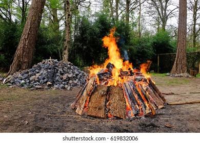 Fireplace sweat Lodge