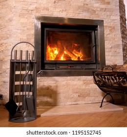 Fireplace tools set