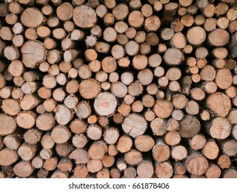 Fireplace wood pile on top of each other