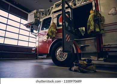 Firestation truck ladder