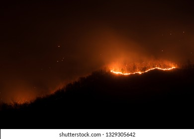 Firestorm Fire and clouds Woolsey Fire Hill in thailand