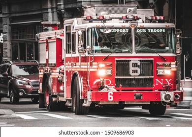 Firetruck in New York City.