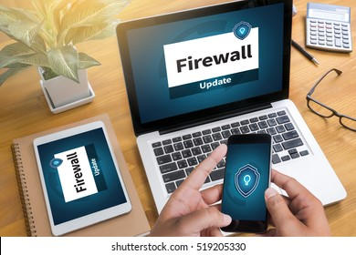 Firewall Antivirus Alert Protection Security and Cyber Security Protection