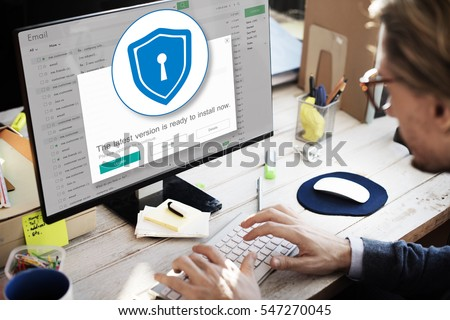 Firewall Antivirus Alert Protection Security Caution Concept