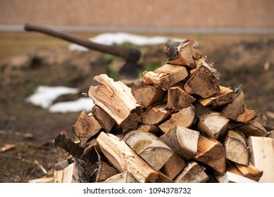 firewood as a background