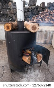 firewood and heater