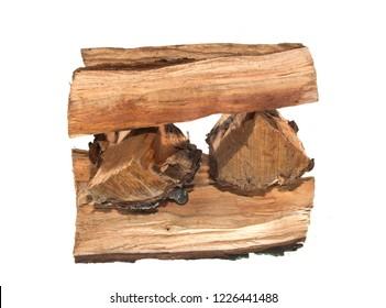 firewood isolated on white background