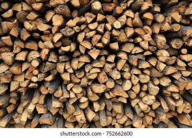 firewood stacked together