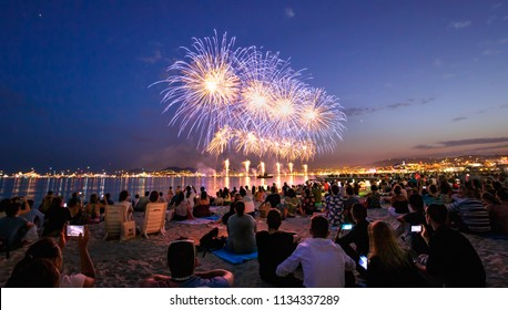 Firework Cannes city