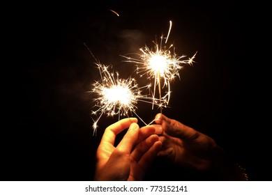 Firework in Christmas festival