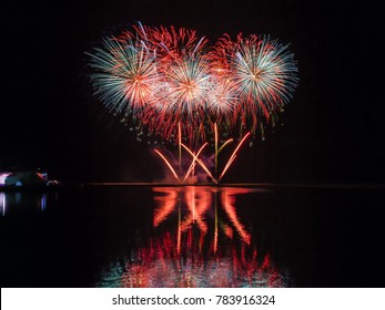 Firework Display - Bahrain National Day Celebrations, Water Garden City, Seef - Bahrain